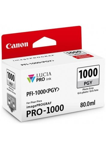 Canon originál ink 0553C001, photo grey, 3165str., 80ml, PFI-1000PGY, Canon imagePROGRAF PRO-1000