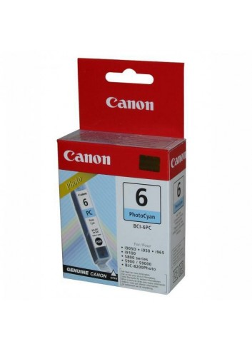 Canon originál ink BCI6PC, photo cyan, 13 4709A002, Canon S800, 820D, 830D, 900, 9000, i950