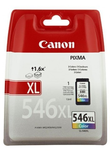 Canon originál ink CL-546XL, colour, blister, 300str., 13ml, 8288B004, Canon Pixma MG2250,2450,2550