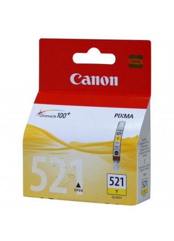 Canon originál ink CLI521Y, yellow, blister s ochranou, 505str., 9ml, 2936B008, 2936B005, Canon iP3600, iP4600, MP620, MP630, MP