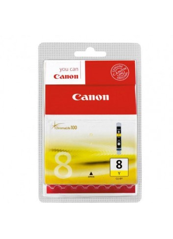 Canon originál ink CLI8Y, yellow, blister s ochranou, 420str., 13ml, 0623B026, 0623B006, Canon iP4200, iP5200, iP5200R, MP500, M